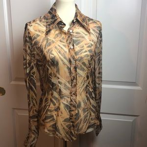 Dolce & Gabbana Sheer Silk Button Down Shirt